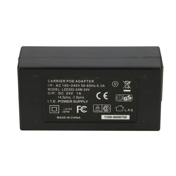 PoE adapter 24V 24W 1A with AC Cable