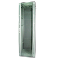 Rack cabinet Qbox 42U/19 600mm x 600mm with fan - light gray