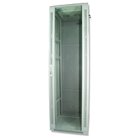 Rack cabinet Qbox 42U/19 600mm x 800mm with fan - light gray